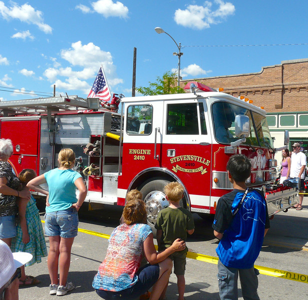 Firetruck at the Creamery Picnic Parade