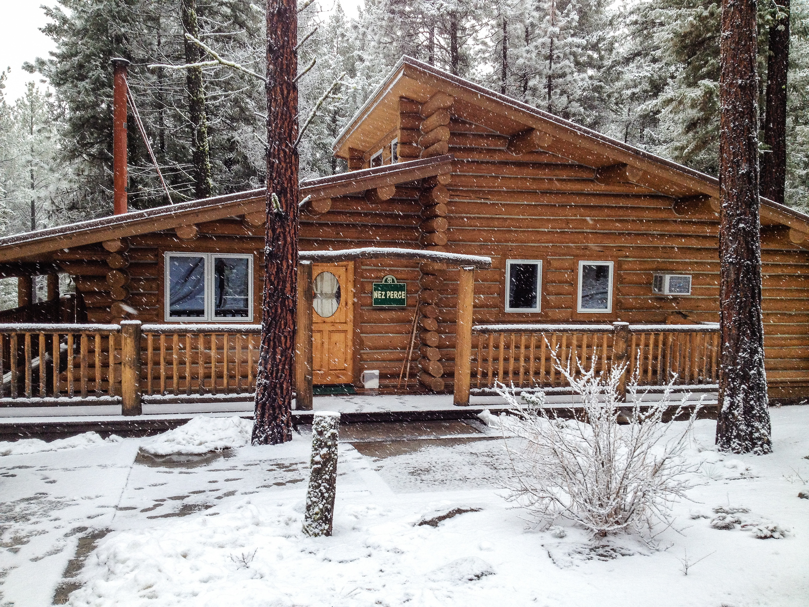 Triple Creek Ranch offers log cabin accommodations near Darby, Montana.