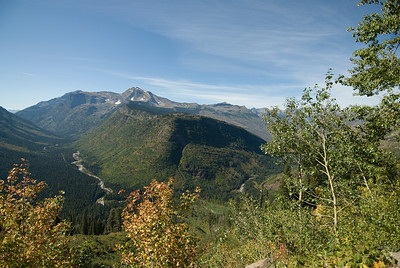 Glacial trough in the valleys of Glacier National Park, Montana