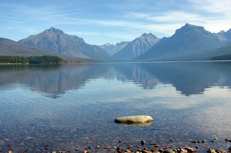 Bowman Lake at Glacier National Park, Montana