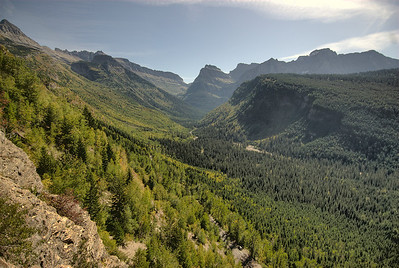 Mountain range at Glacier National Park, Montana, USA