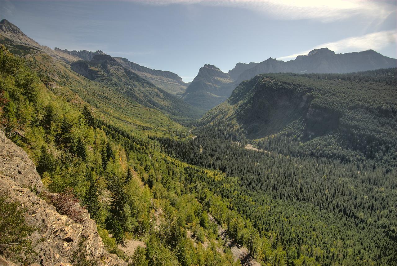 Mountain range at Glacier National Park, Montana, USA