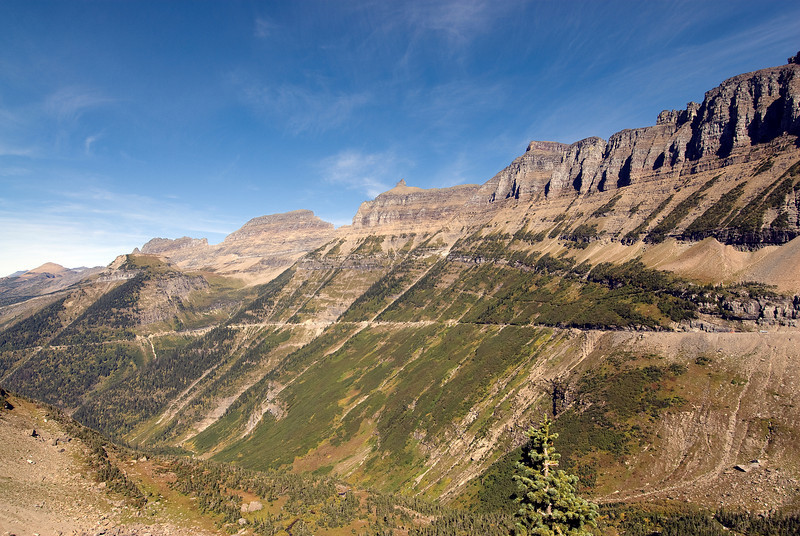 Mountain slopes in Glacier National Park, Montana