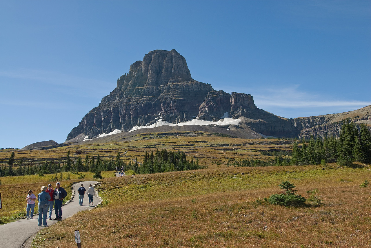 Reynolds Mountain as seen from the Logan Pass in Glacier National Park