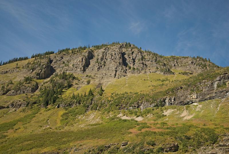 Mountain slopes in Glacier National Park, Montana