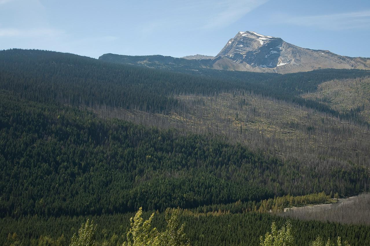 Mountain range in Glacier National Park, Montana