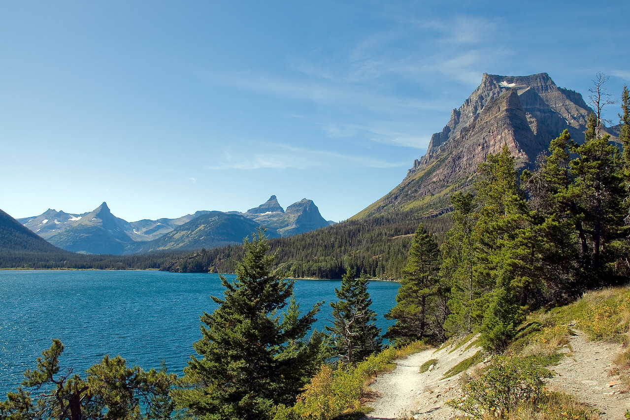 Two Medicine Lake with Sinopah Mountain in Glacier National Park, Montana
