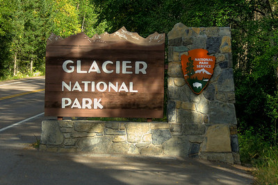 Sign outside Glacier National Park in Montana