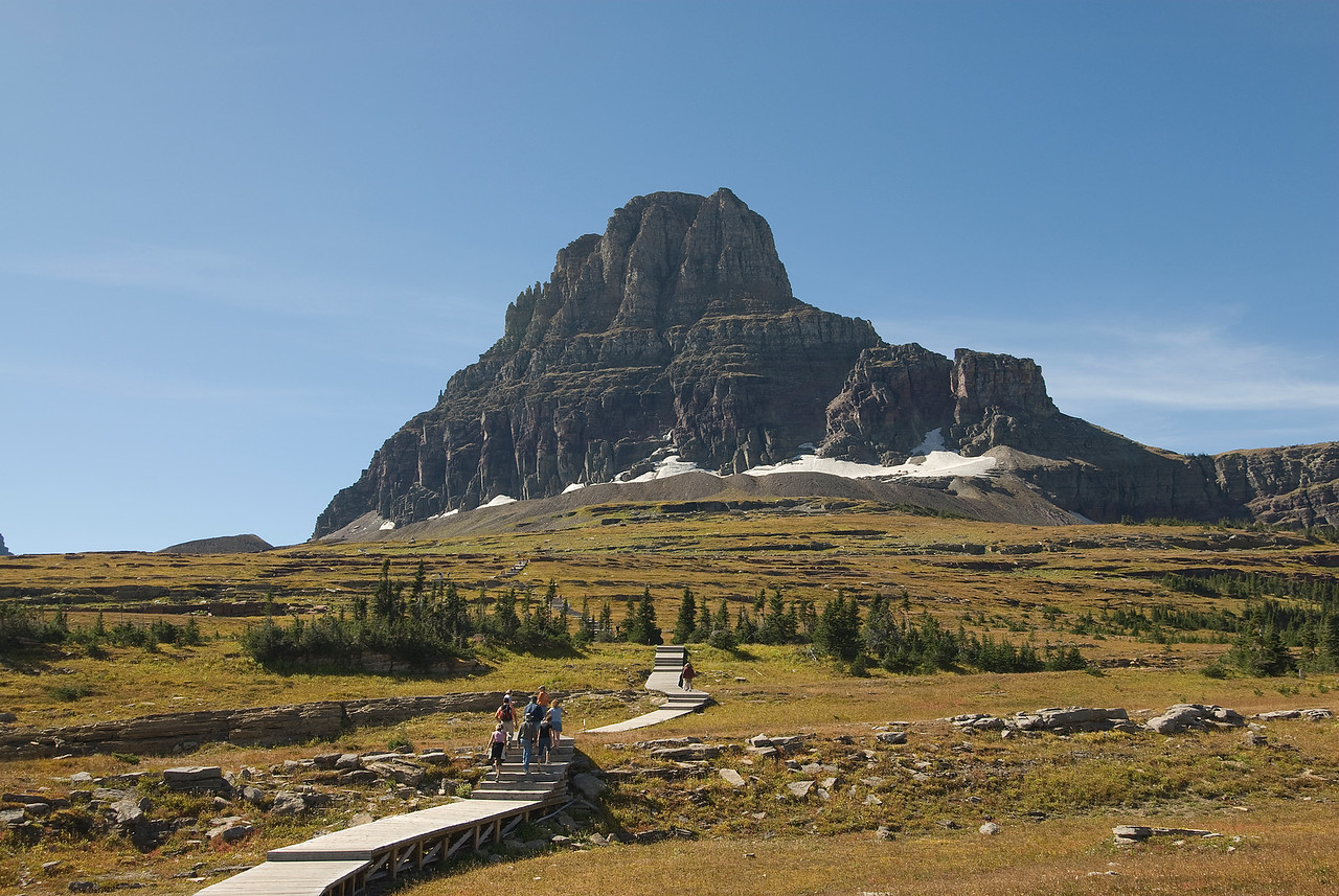 Reynolds Mountain in Lewis Range, Glacier National Park, Montana
