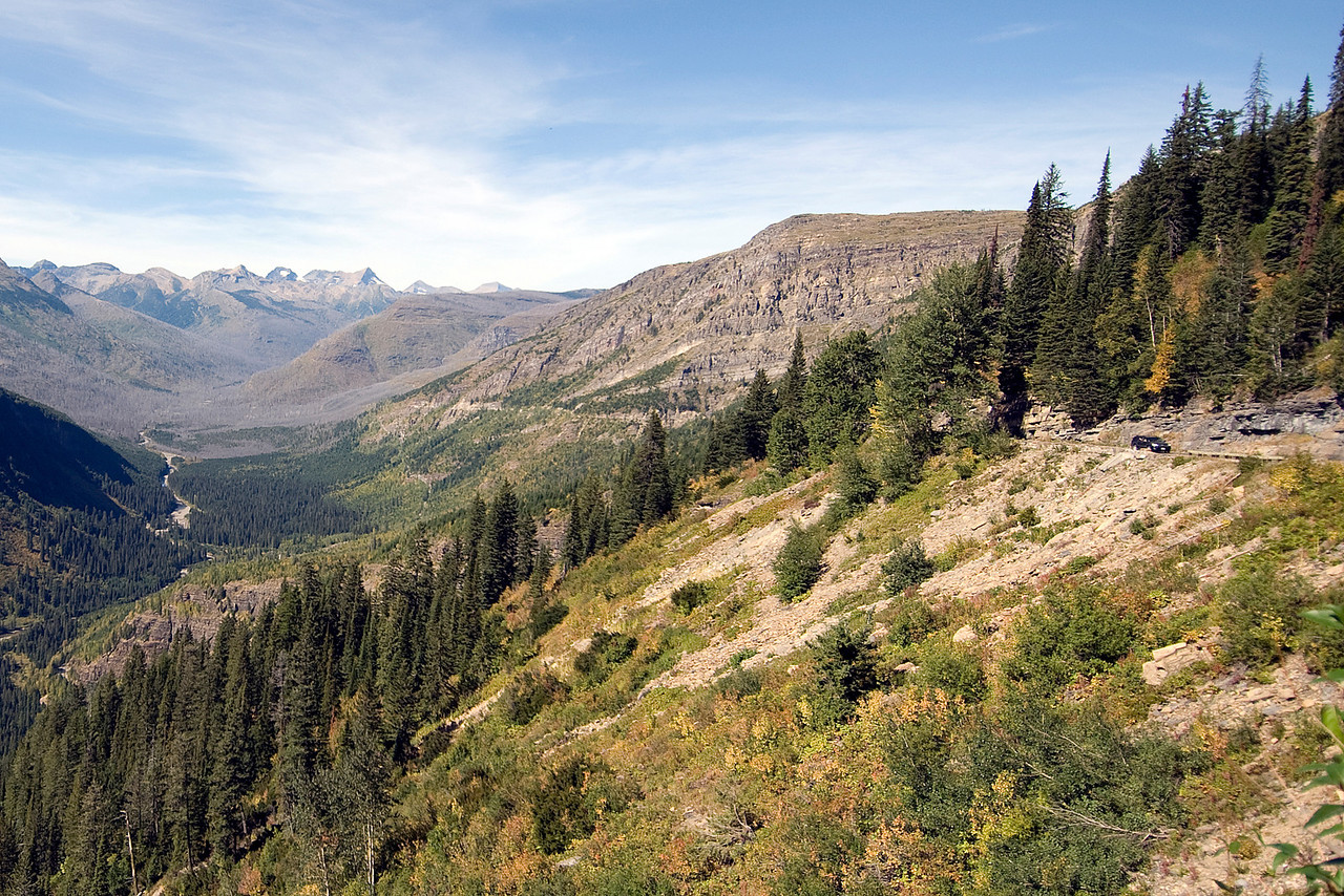 Mountain slopes in the Glacier National Park, Montana