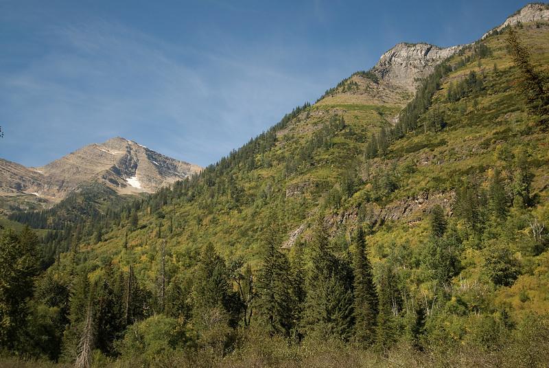 Mountain range inside Glacier National Park, Montana