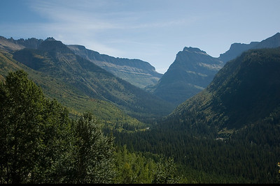 Mountain range in Glacier National Park, Montana
