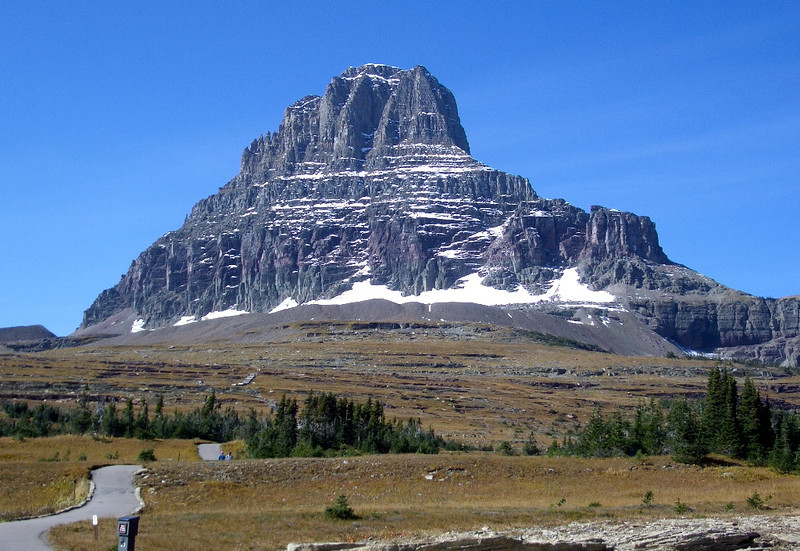 Mountain at Logan's Pass Glacier