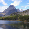 Dramatic view at Many Glacier in Glacier National Park