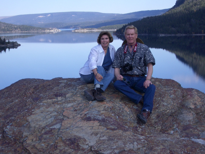 Donna and Alan Hull at St. Marys Lake in Glacier National Park
