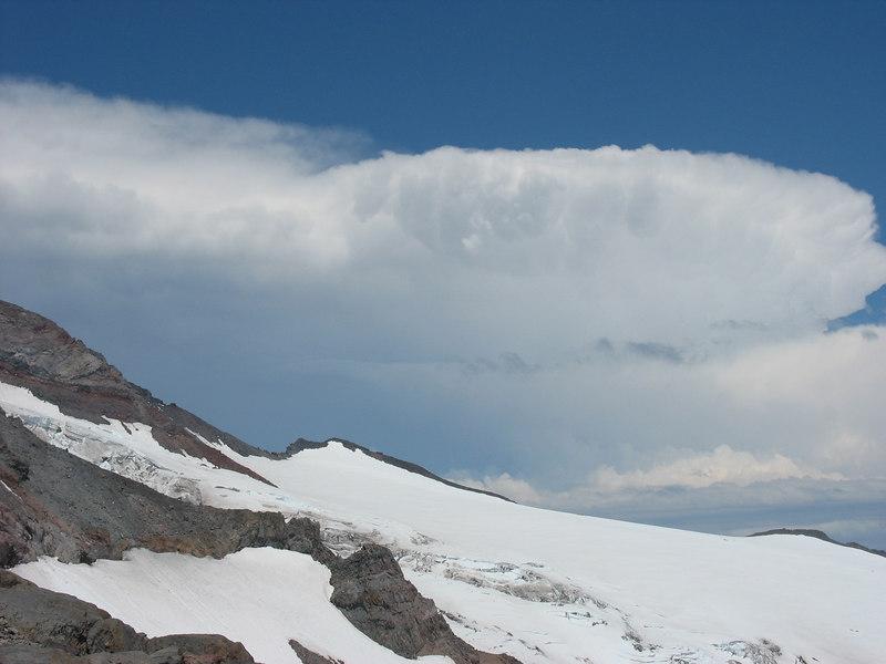Storm cloud above Camp Muir