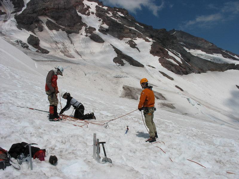 Crevass rescue training
