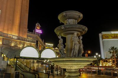 Fountain in front of The Venetian Hotel & Casino in Las Vegas