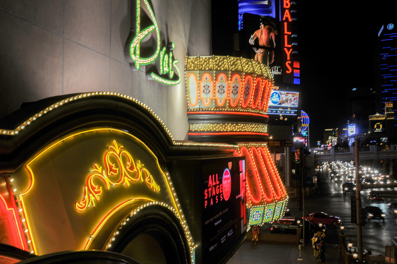 Bright lights in Las Vegas, Nevada