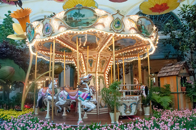 "Carousel at the ""Carnival in the Garden"" exhibit at Bellagio's Conservatory & Botanical Garden"