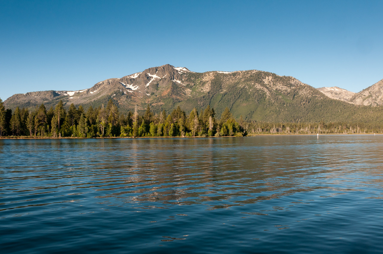 The Sierra Nevada Mountains as seen from Lake Tahoe, Nevada
