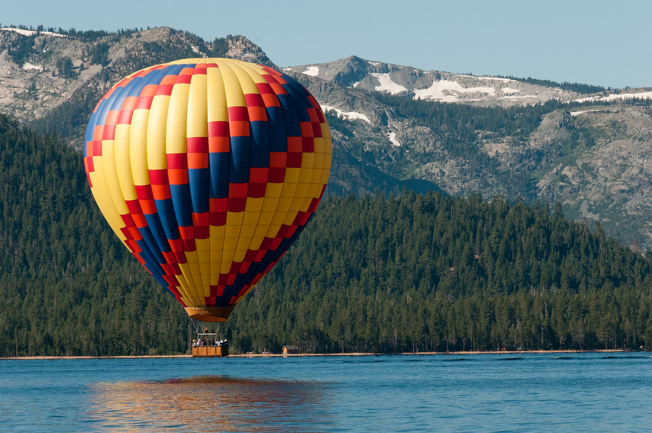 Lake Tahoe, California  hot air balloon rides