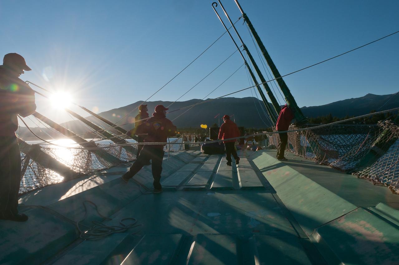 Preparing for Hot Air Balloon Rides over Lake Tahoe, Nevada