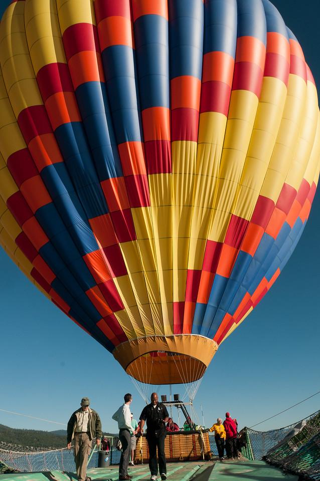Hot air balloon ride in Lake Tahoe, Nevada