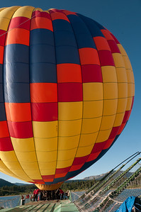 Hot air balloon in Lake Tahoe, Nevada