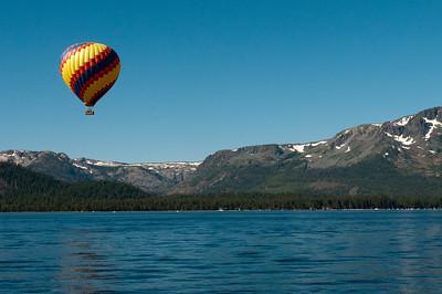 Hot air balloon ride over Lake Tahoe, Nevada