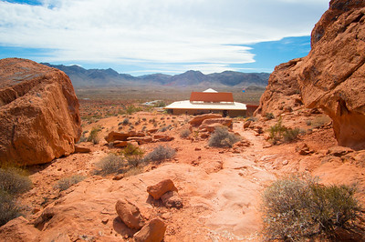 Behind the visitor's center at Valley of Fire State Park, Nevada