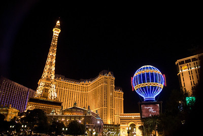 Eiffel Tower at Paris Las Vegas Hotel and Casino in Las Vegas, Nevada