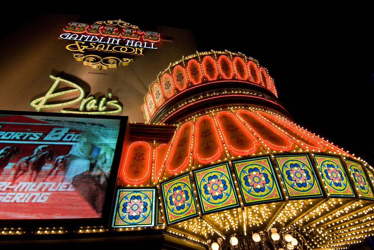 Bright lights at Bill's Gamblin' Hall & Saloon, Las Vegas, Nevada