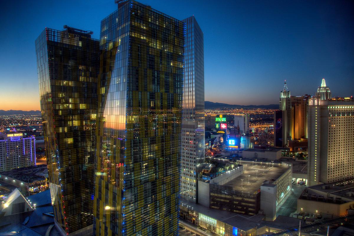 Las Vegas at sunrise