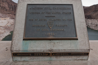 American Society of Civil Engineers plaque at Hoover Dam in Las Vegas