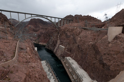 The Mike O'Callaghan–Pat Tillman Memorial Bridge in Hoover Dam, Las Vegas