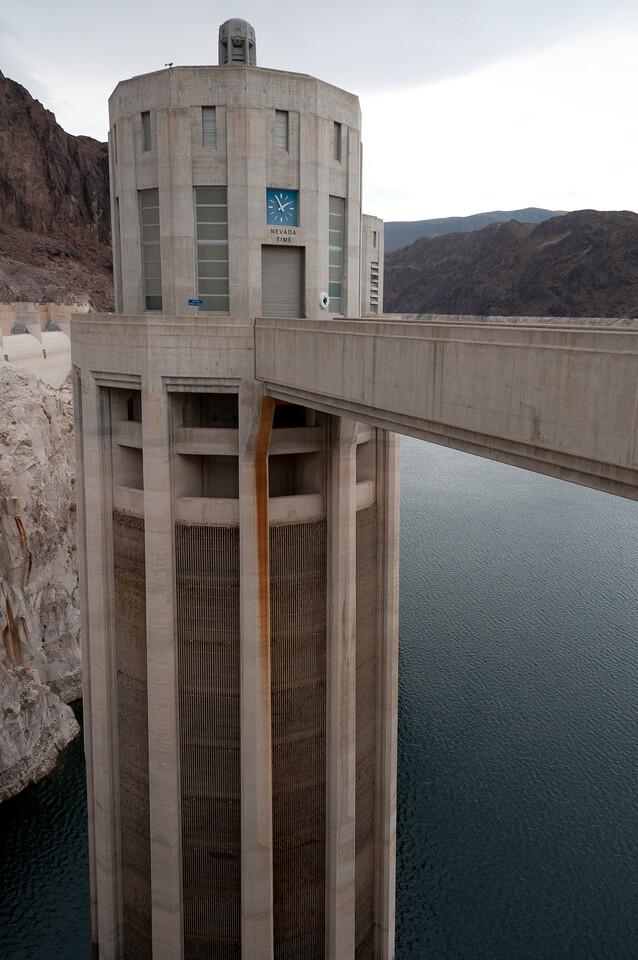 Water intake tower at Hoover Dam in Las Vegas, Nevada