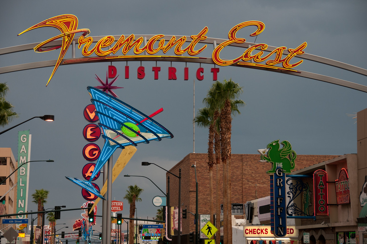 Fremont East District in Las Vegas, Nevada