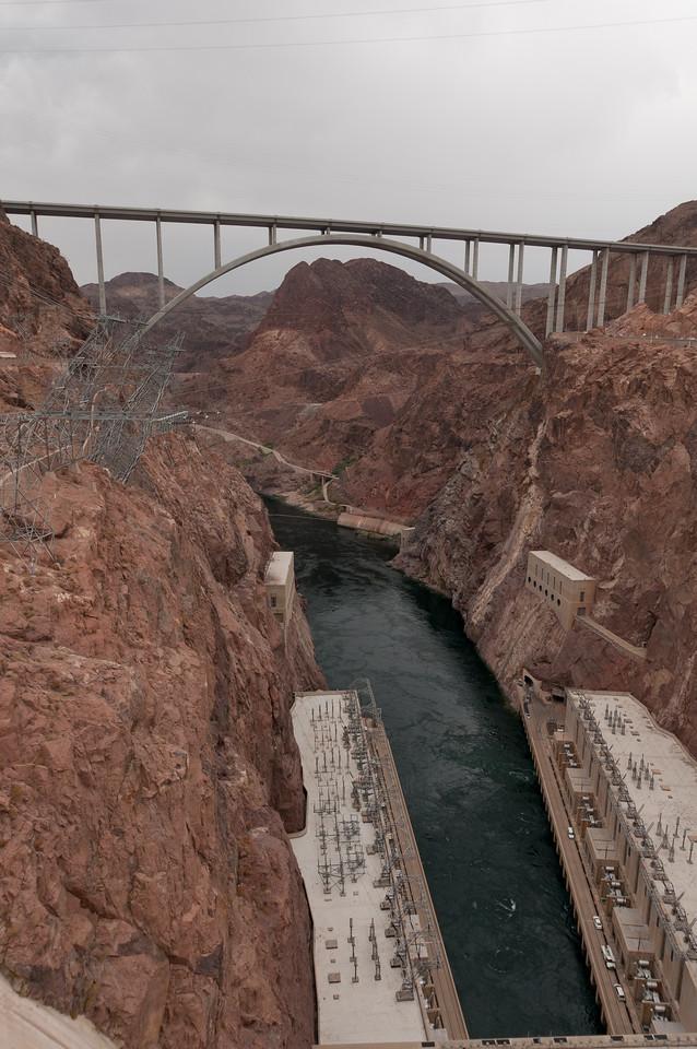 The Mike O'Callaghan–Pat Tillman Memorial Bridge in Hoover Dam, Las Vegas, Nevada