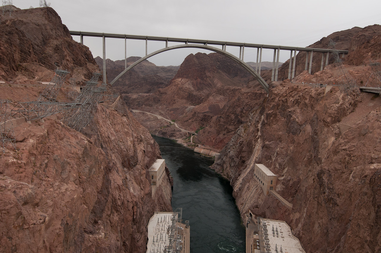The Mike O'Callaghan–Pat Tillman Memorial Bridge in Las Vegas, Nevada