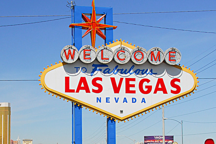 The famous and iconic Las Vegas welcome sign