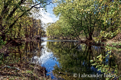 High Water on the Ramapo - Color HDR