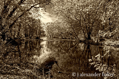 High Water on the Ramapo - Sepia