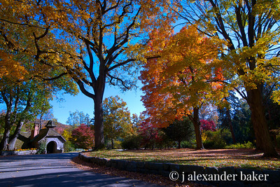 The Shire in Fall - actually a View of Pump house at Skylands Manor