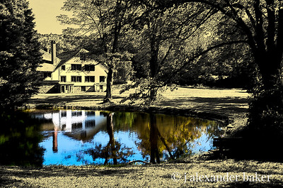 A Different take on the View of stables at Ringwood Manor, NJ