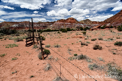 Barbed Wire Fence - On the road from Abiquiu to Ghost Ranch