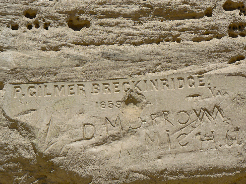 Discover Old West graffiti at El Morro National Monument near Grants, New Mexico.