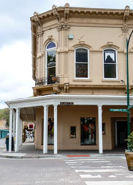 Street corner on the Santa Fe Trail