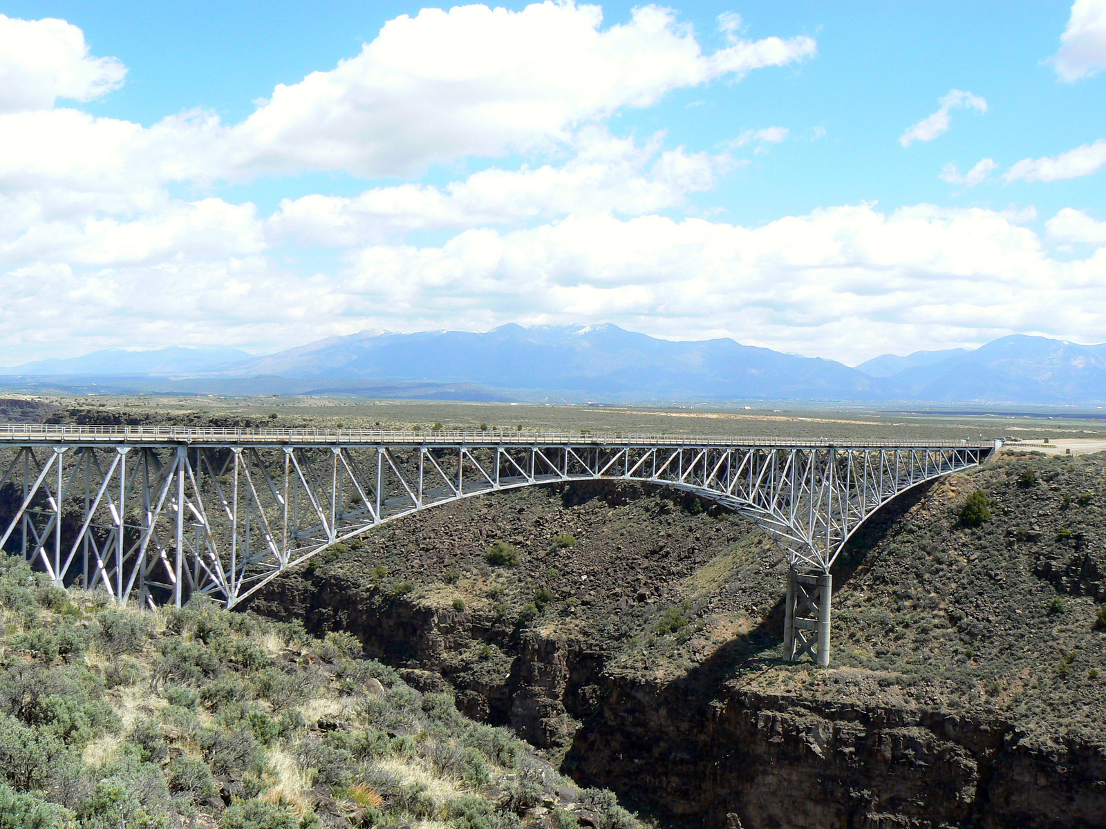 Explore the Rio Grande Gorge Bridge while driving the Enchanted Circle Highway near Taos, New Mexico