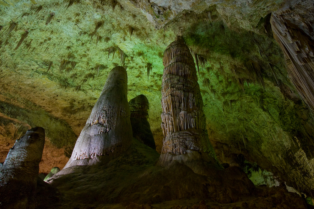 Inside Carlsbad Caverns in Carlsbad, New Mexico